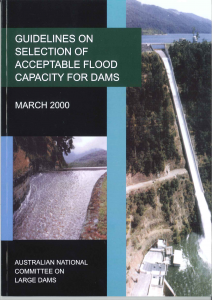 Colour cover Acceptable Flood Capacity for Dams - 2000