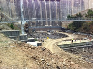 After dewatering