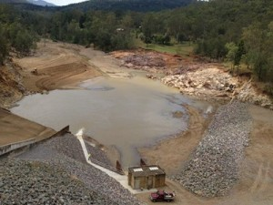 Figure 1 - Borumba Dam after repair works were completed