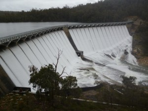 Figure 4 - Wellington Dam Spilling October 2013