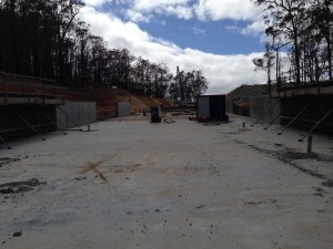 Progress with construction of the chute floor and walls