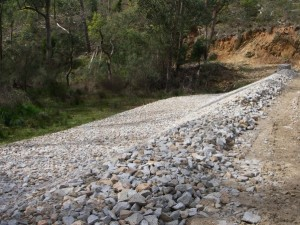 Figure 5- Bakers Gully- Remediated embankment downstream- Lower Reservoir