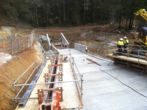 Spillway under Construction