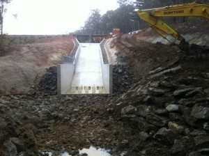 Spillway nearing Completion